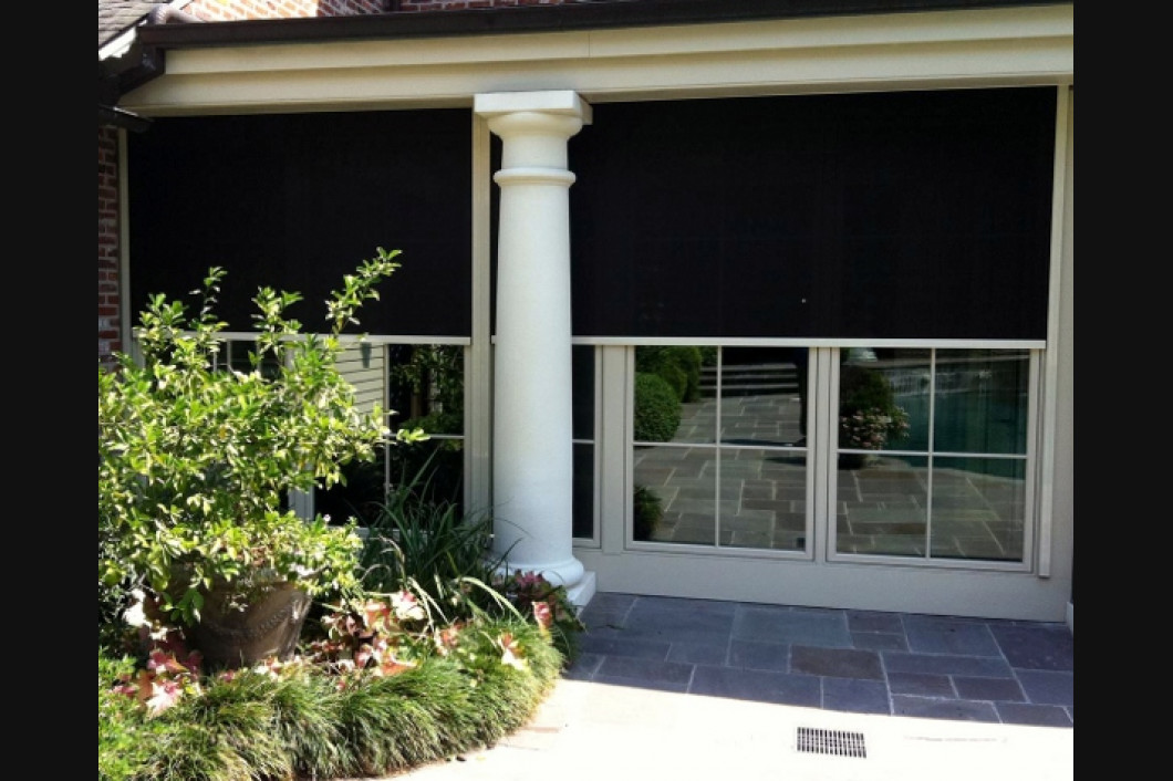 Patio shades asco window coverings for Screen porch window treatments